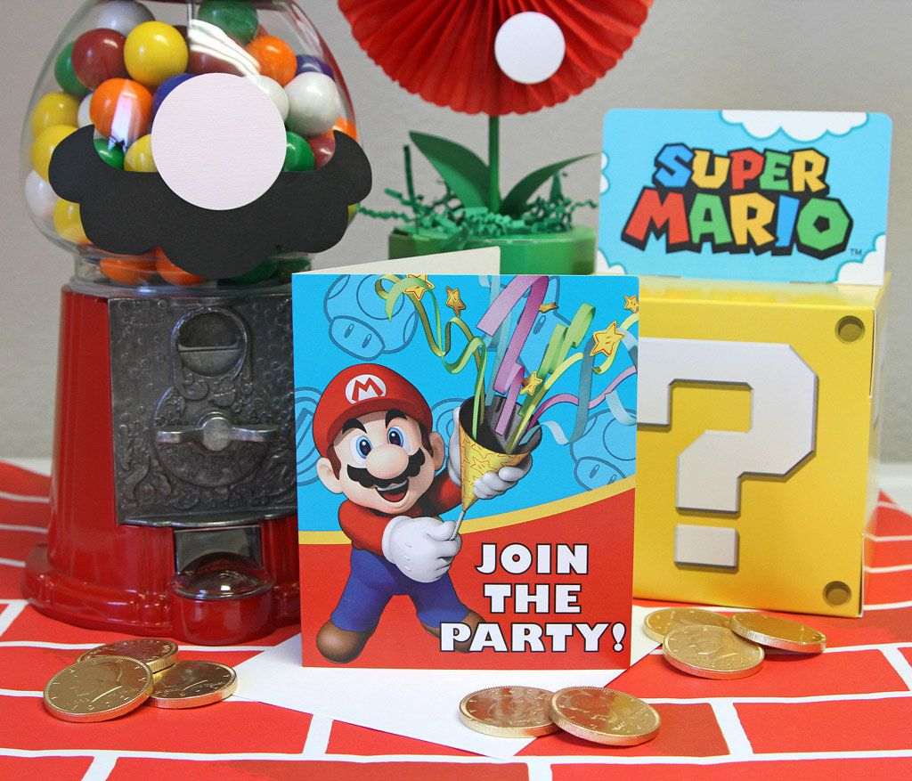 Super Mario Party Ideas Kids Party Ideas At Birthday In A Box