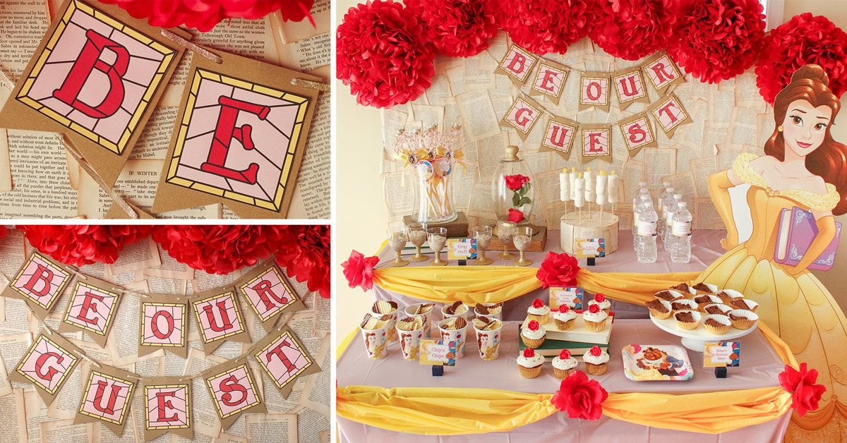 Princess Belle Party Ideas Disney Party Ideas at Birthday in a Box Stunning Belle Birthday Decorations
