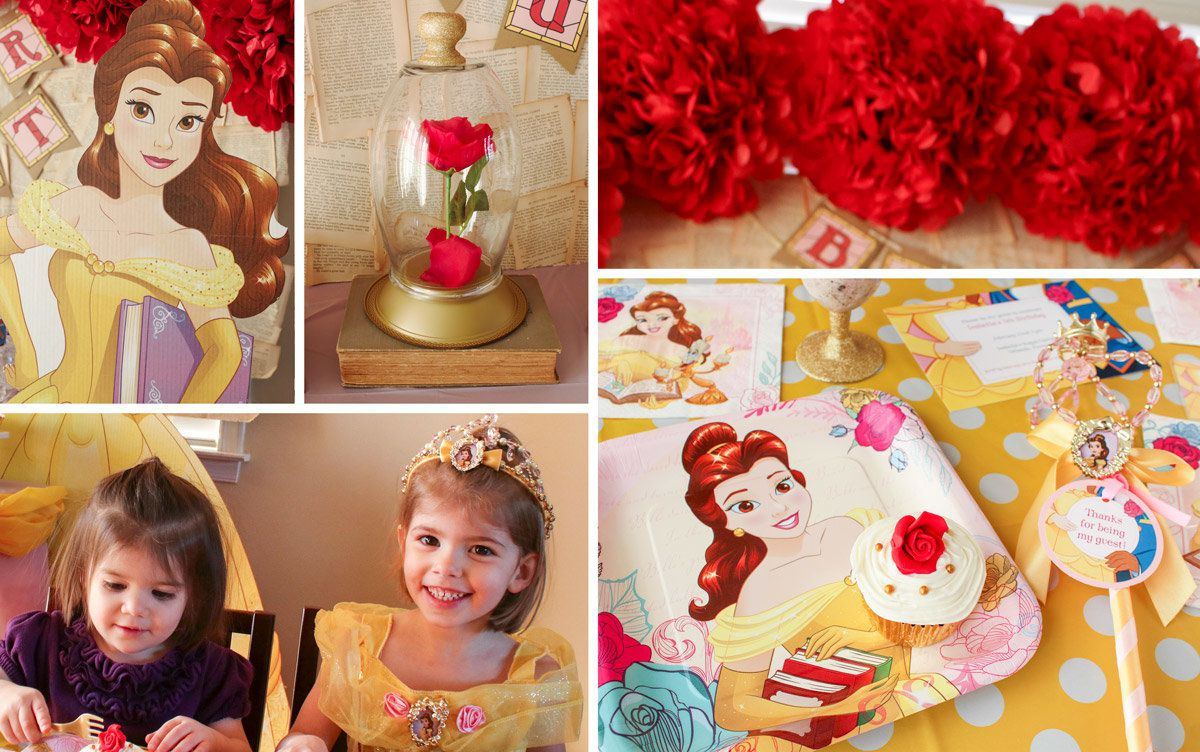 Princess Belle Party Ideas Disney Party Ideas At Birthday In A Box