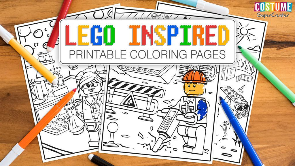 Costume Supercenter - Lego Inspired Coloring Pages