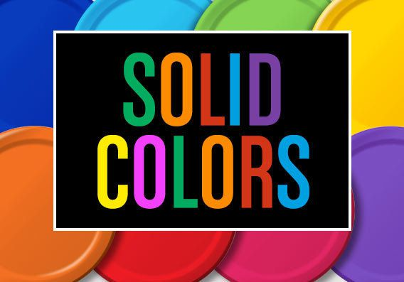 Solid Colors Party Supplies