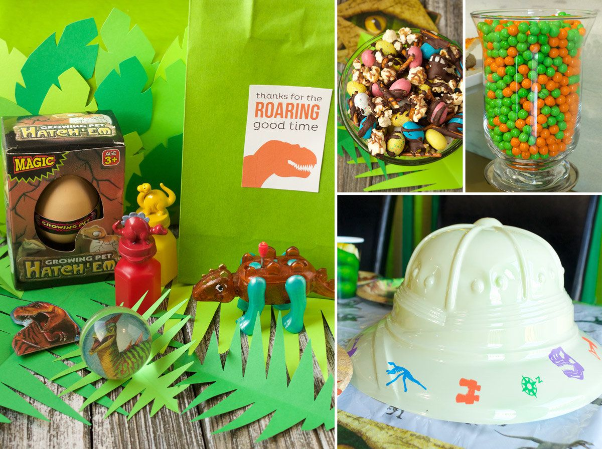Dinosaur Birthday Party Ideas - Favors