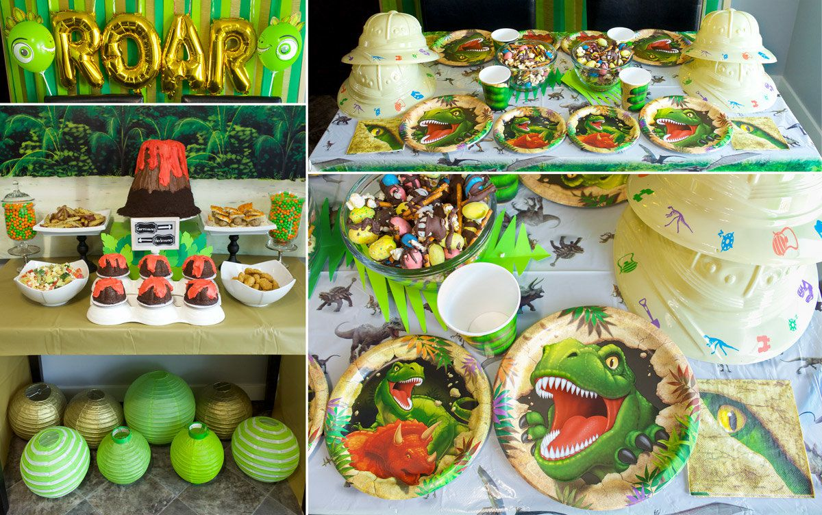 Dinosaur Birthday Party Ideas - Decorations