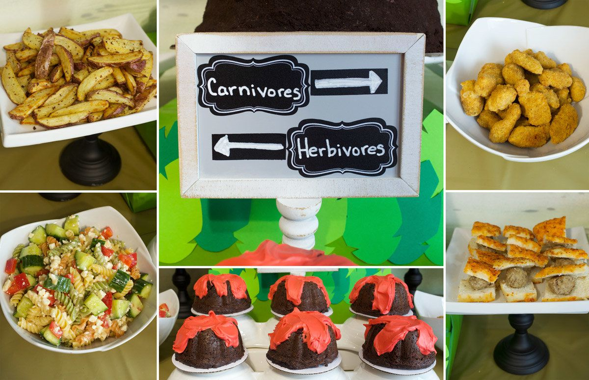 Dinosaur Birthday Party Ideas - Foods
