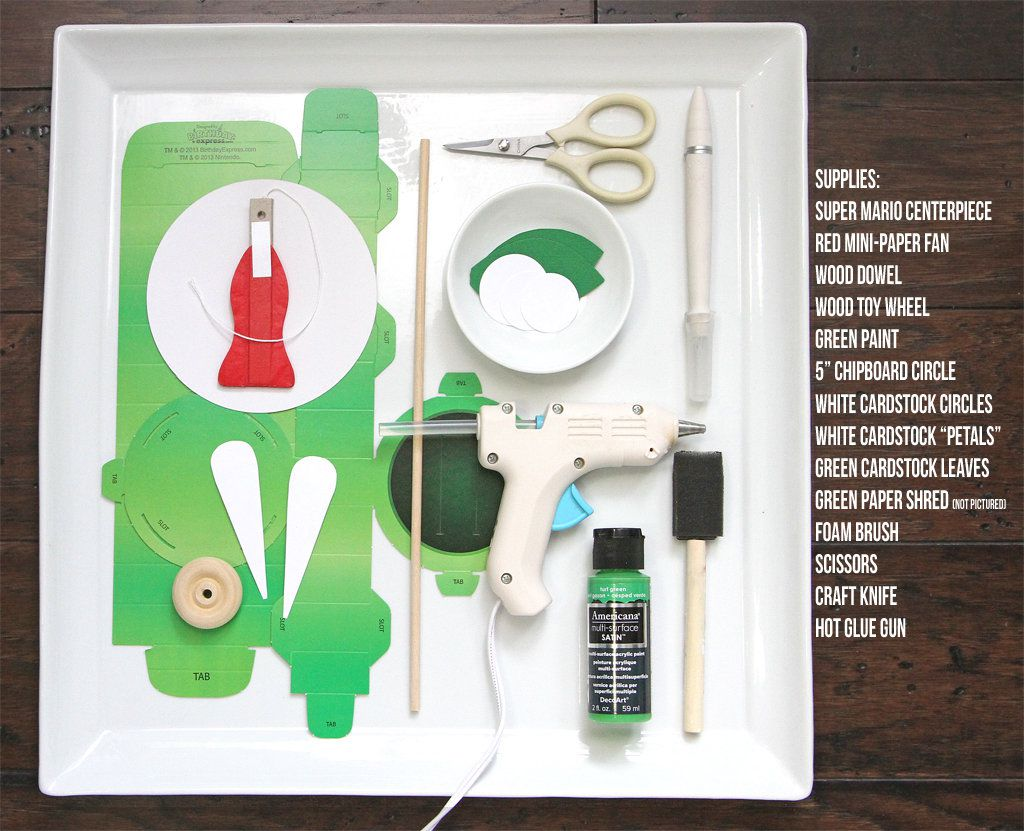 DIY Piranha Plant Decoration Supplies