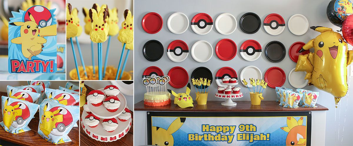 Pokemon Party Ideas - Pokemon Kids Party Supplies for Boys & Girls