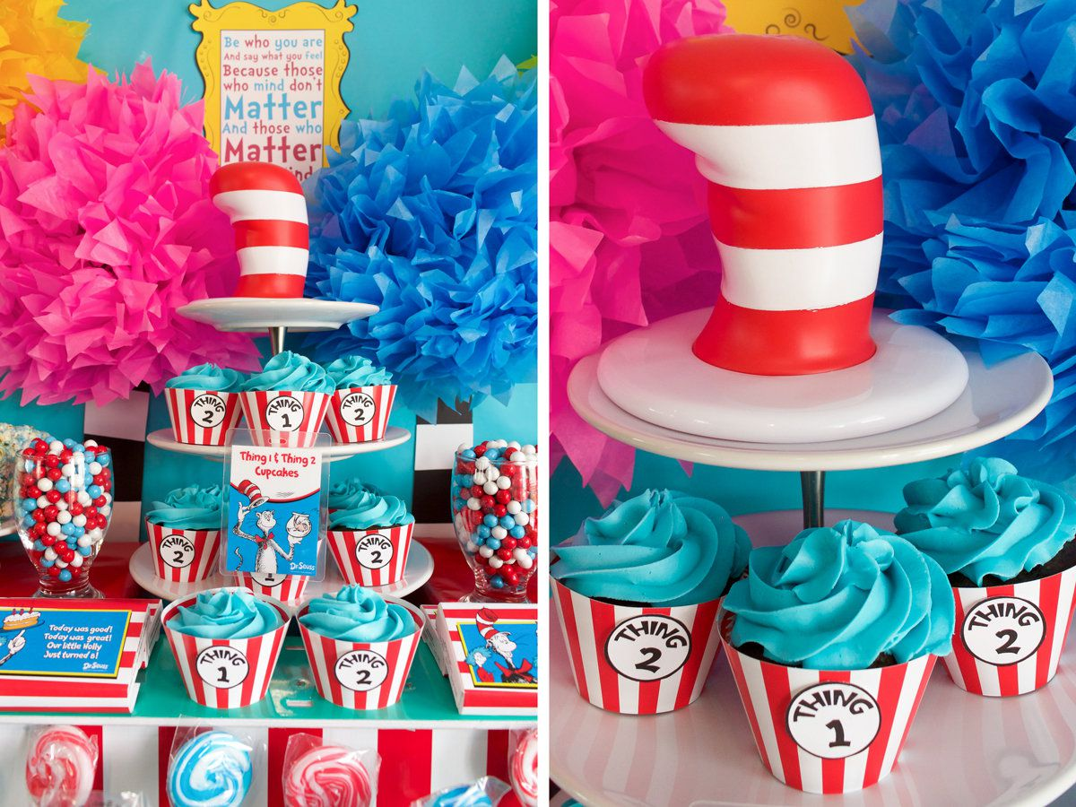 Wondrous Dr Seuss Party Ideas Kids Party Ideas At Birthday In A Box Funny Birthday Cards Online Sheoxdamsfinfo