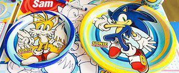Sonic the Hedgehog Party Ideas - Tableware