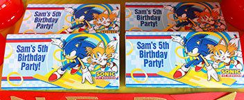 Sonic the Hedgehog Party Ideas - Personalization