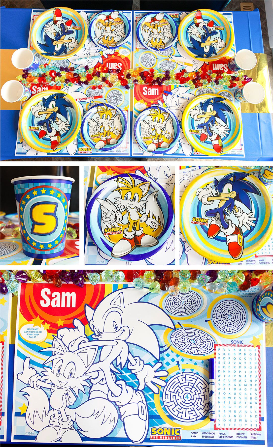 Sonic The Hedgehog Party Ideas Games Party Ideas At Birthday In A Box