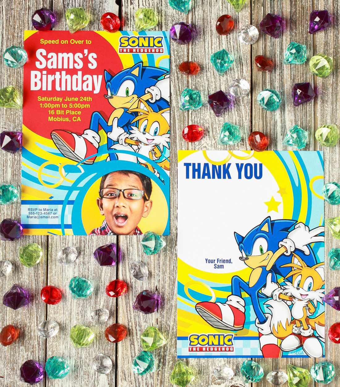 Sonic the Hedgehog Party - Personalized Invitations