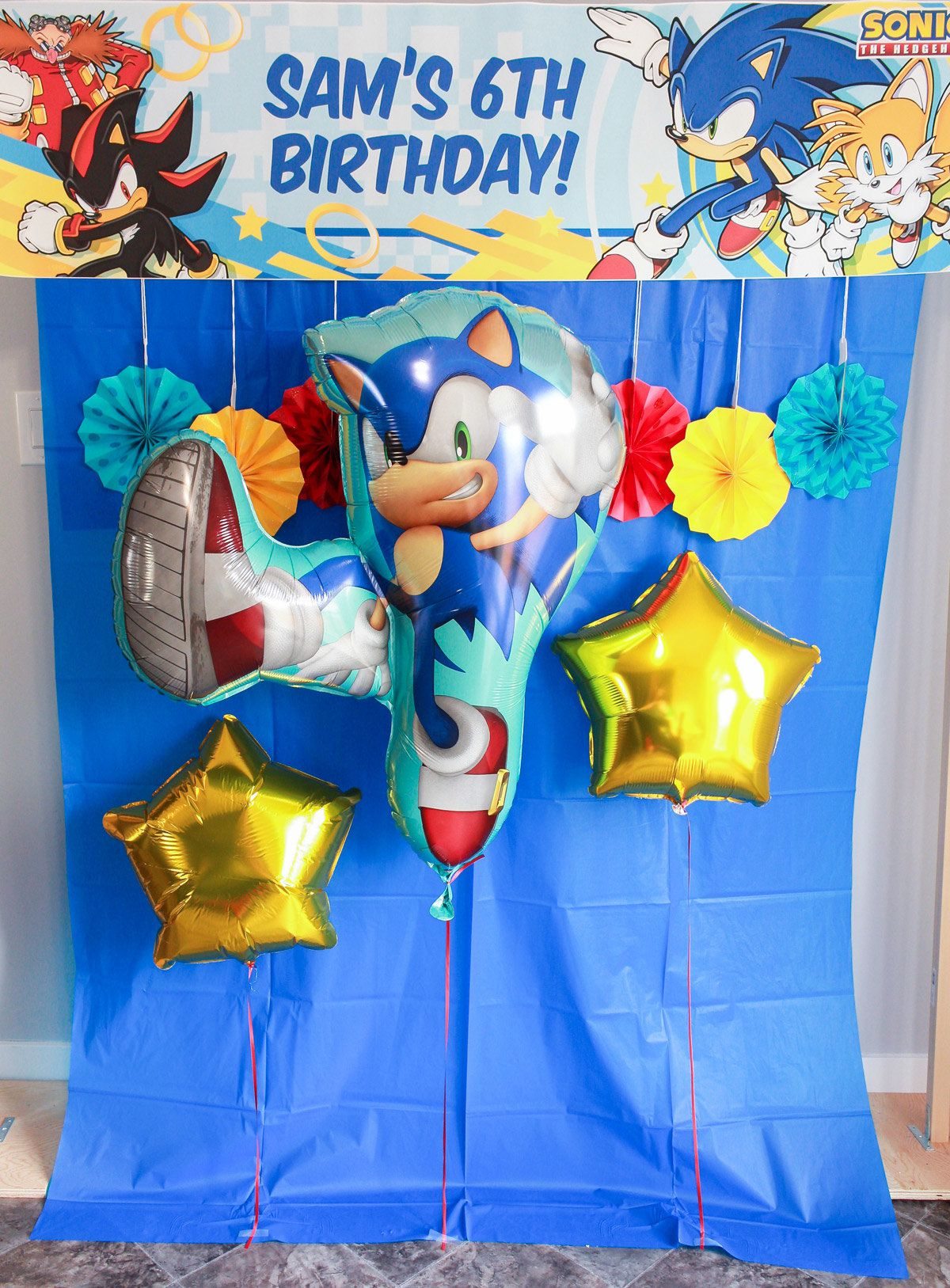 Sonic the Hedgehog Party - Photobooth
