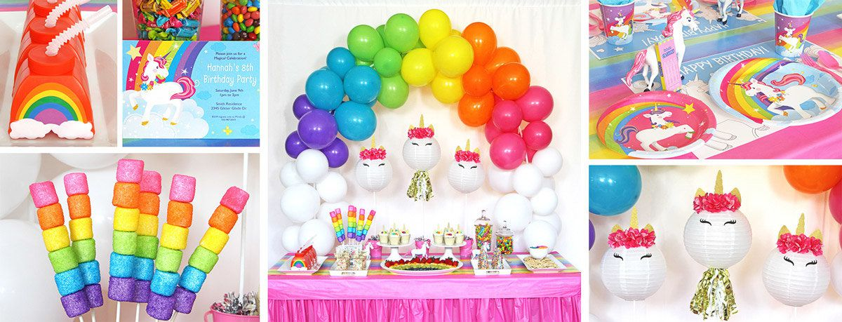 Unicorn and Rainbows Party Ideas