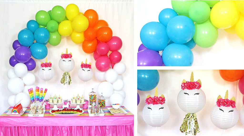Unicorn and Rainbows Party