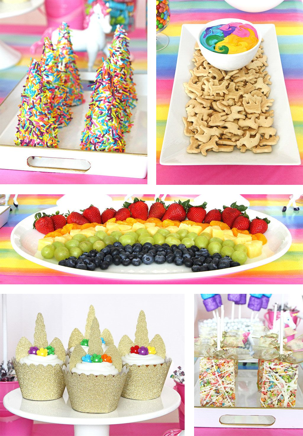 Unicorn and Rainbows Party Foods