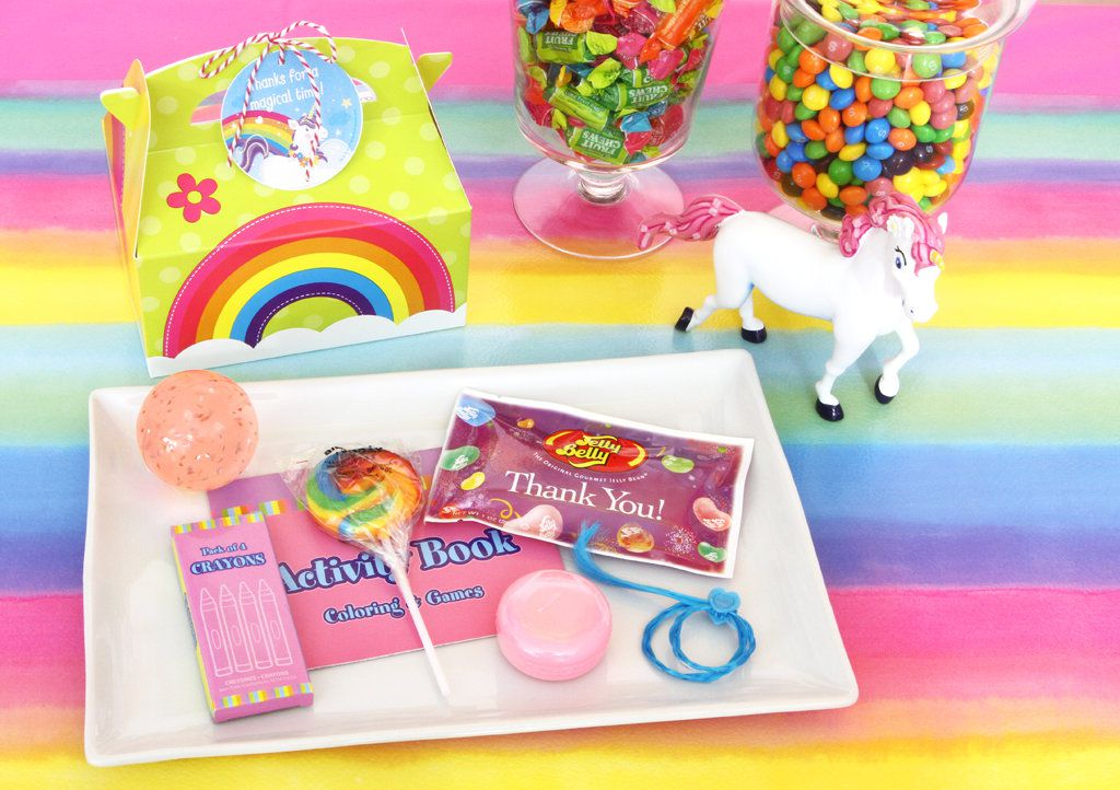 Unicorn and Rainbows Party Favors