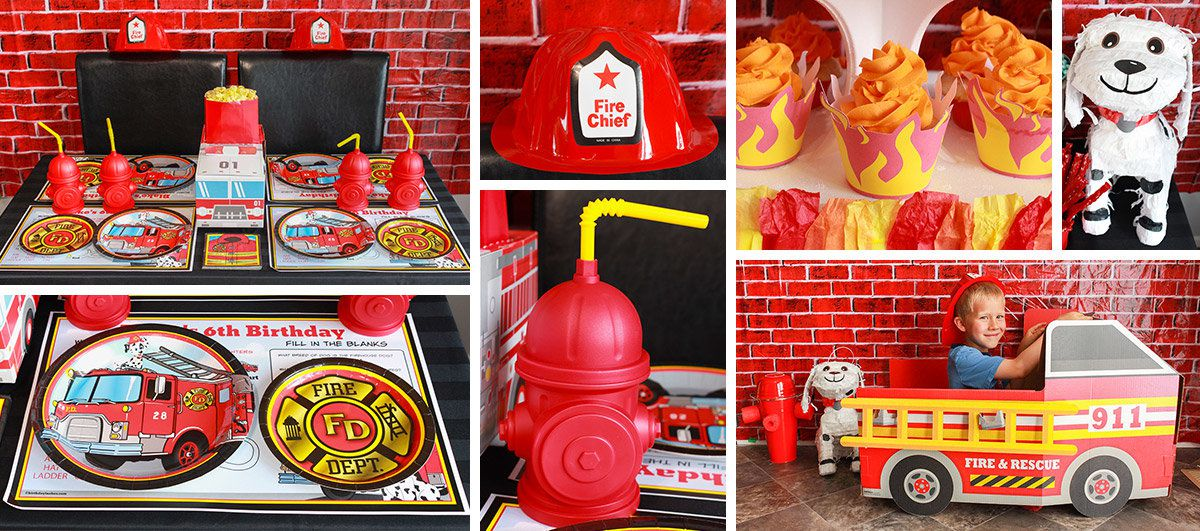 Firefighter Birthday Party Ideas