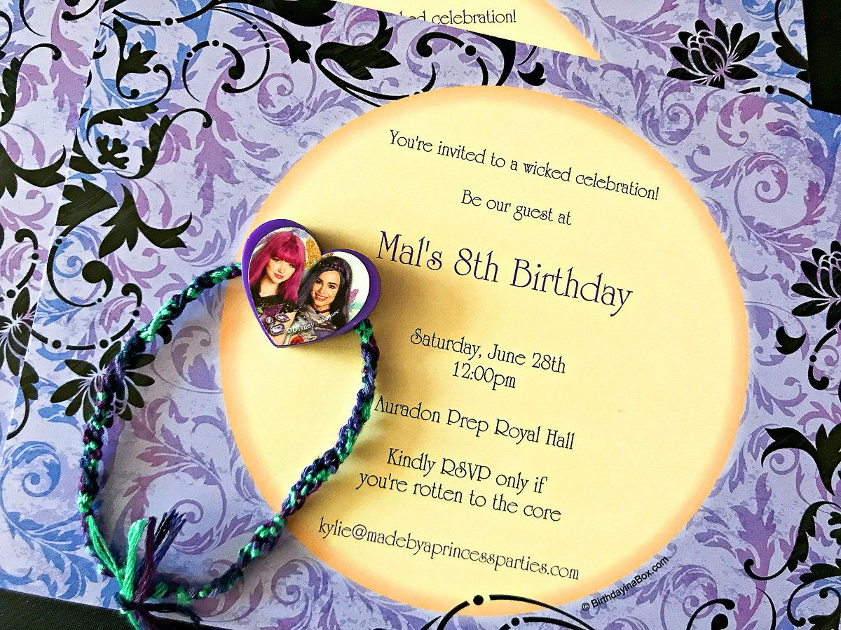Descendants Birthday Party Ideas - Invitations