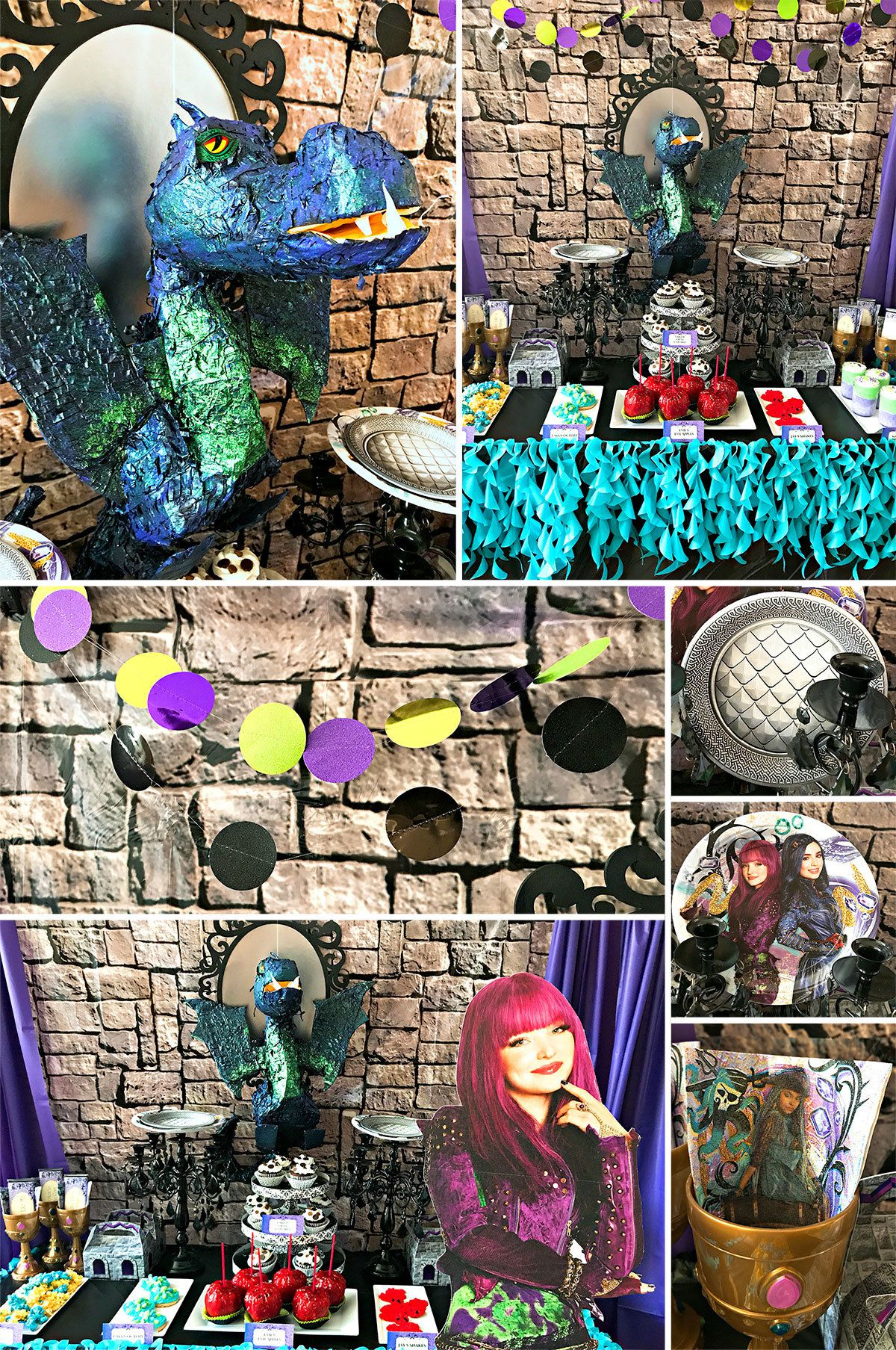 Descendants Birthday Party Ideas - Decorations