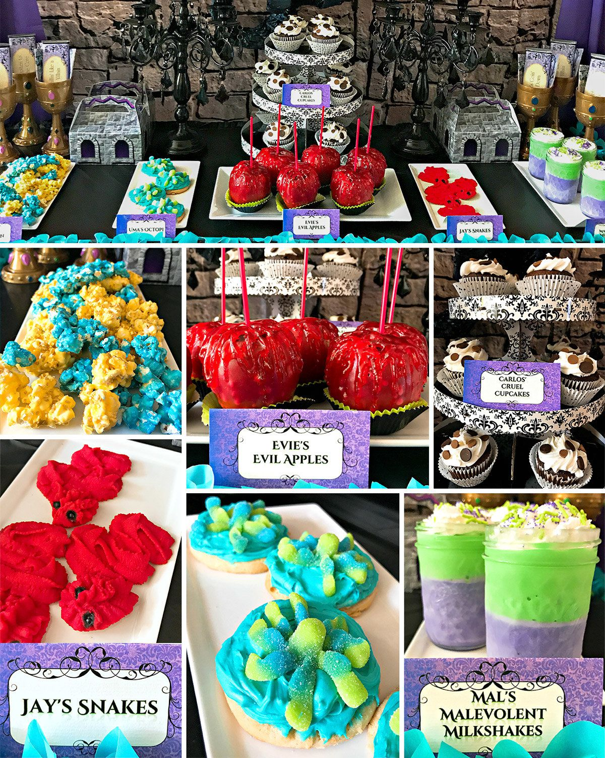 Descendants Birthday Party Ideas - Food
