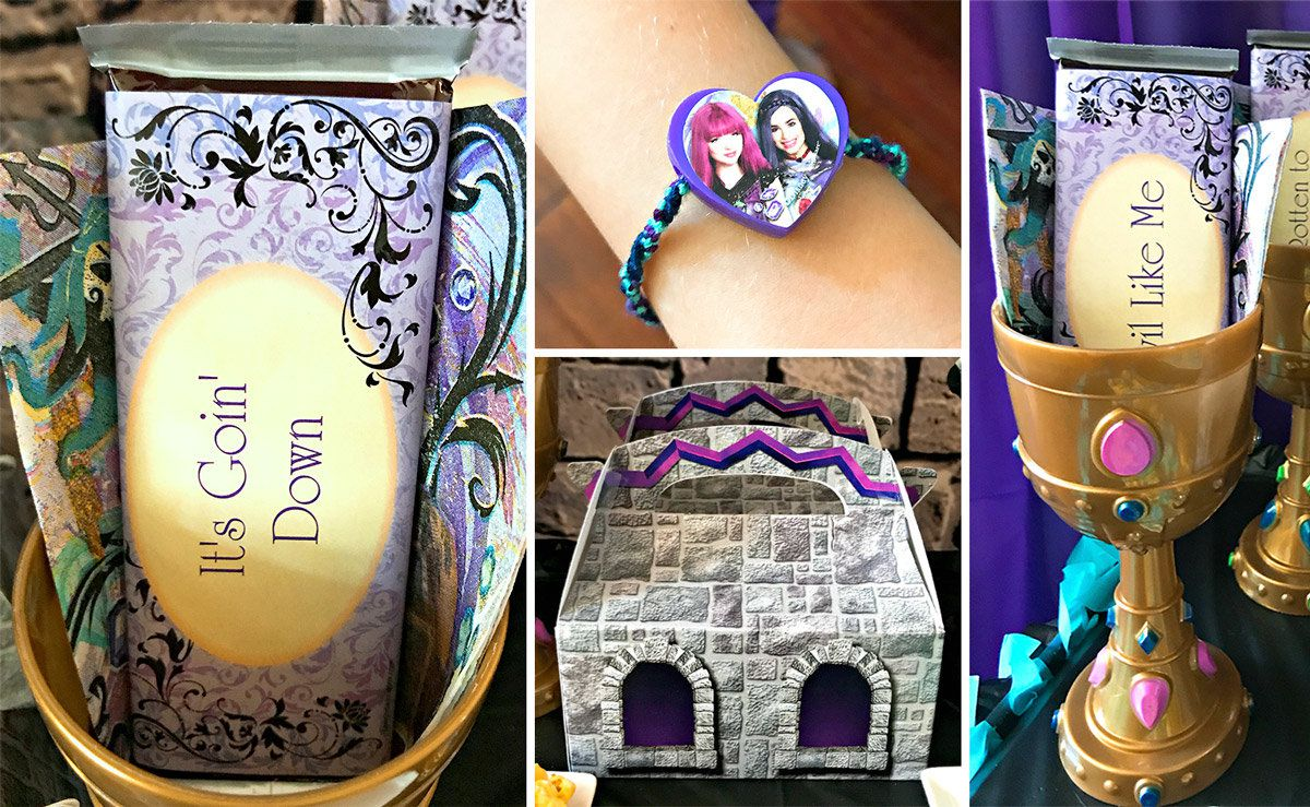 Descendants Birthday Party Ideas - Favors