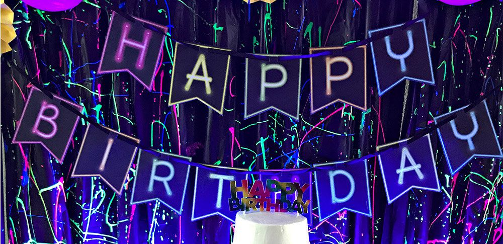 Glow In The Dark Party Ideas Kids Glow Party Idea At Birthday In A Box