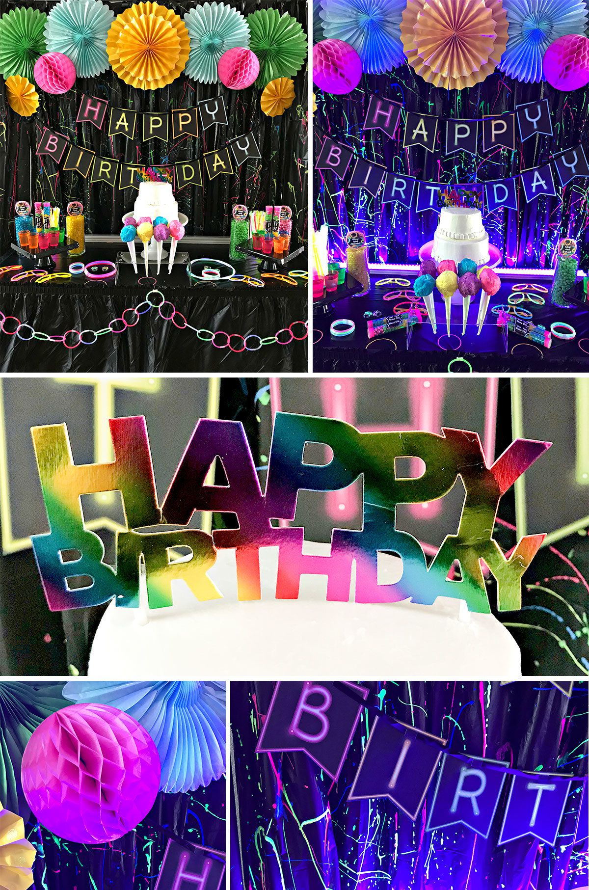Glow In The Dark Party Ideas  Kids Glow Party Idea at Birthday in