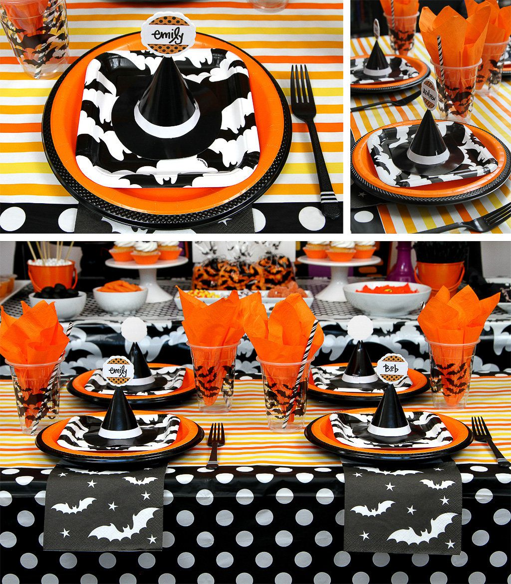 Halloween Party Ideas Table Setting