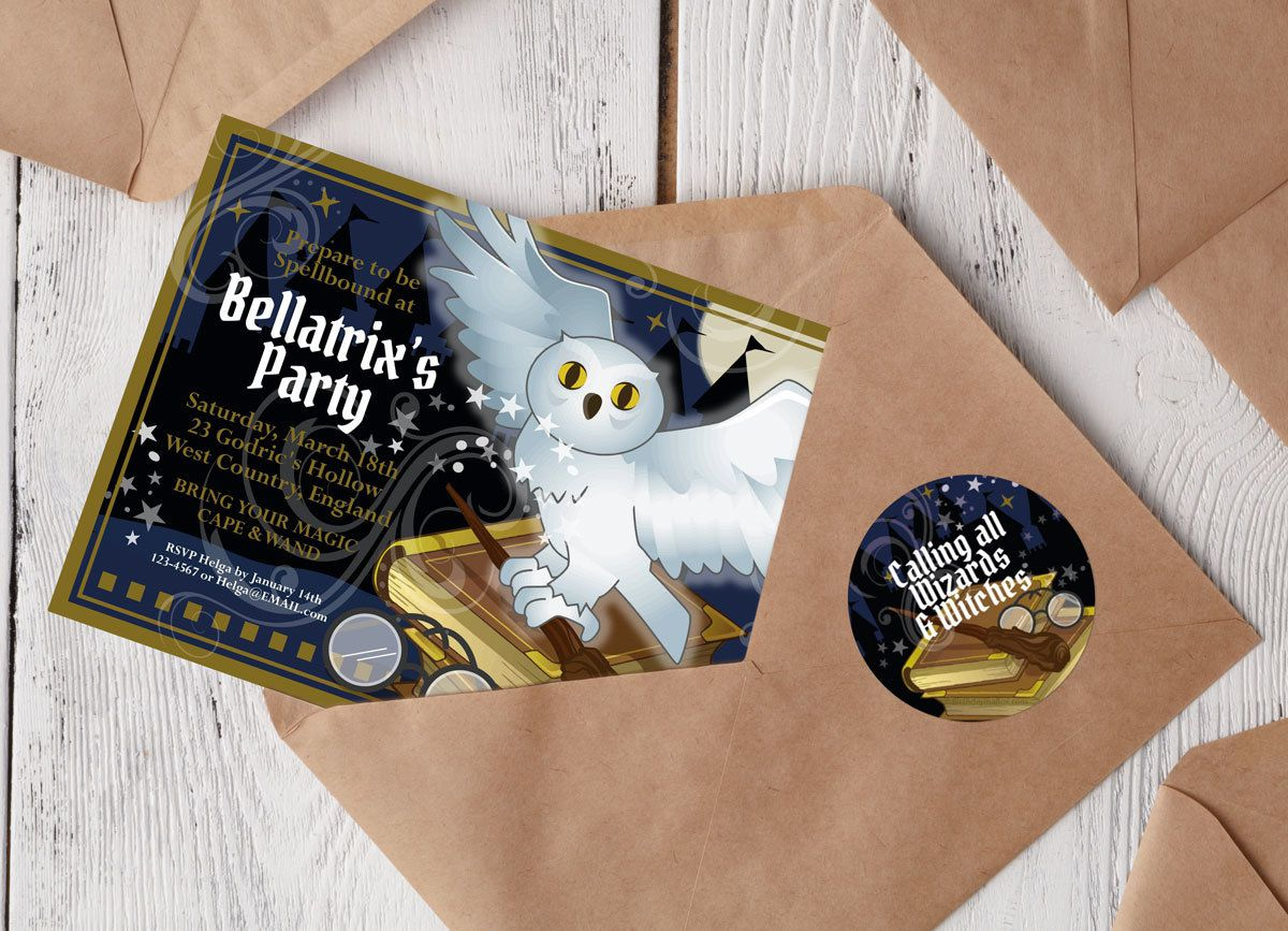 Harry Potter Party - Invitations