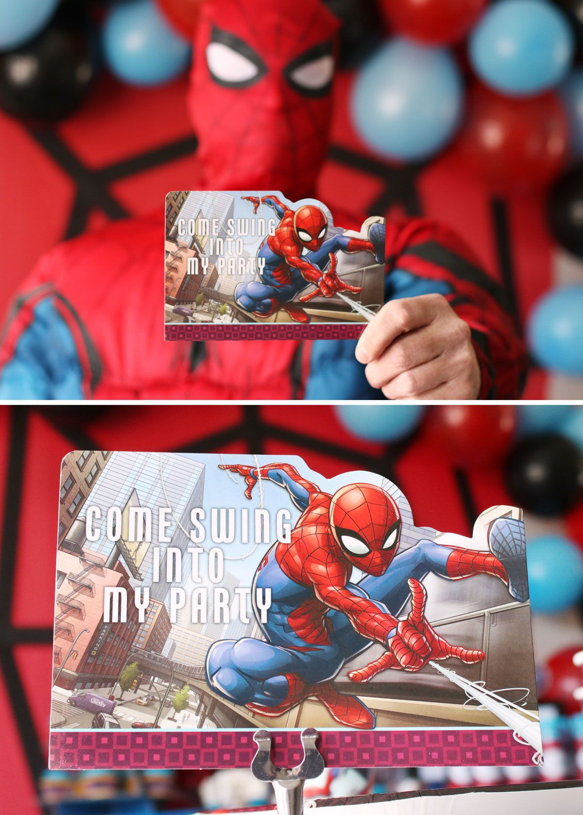 It's hard not to love your friendly neighborhood Spider-Man. He's always there to save the day! Just think about all the crime that would be happening if Peter Parker hadn't been bitten by a radioactive spider. We might be seeing what the world would be like without Spider-Man thanks to the infamous snap at the end of Avengers: Infinity War, but we're holding out hope that this superhero will swing back into our lives again.  Spider-man proves that you don't have to be the biggest and toughest to still be a do-gooder! This agile web shooter has been gracing the small and big screen for over 60 years and he's one superhero that's still going strong!  Whether your son became a fan through the Marvel comics books, the Spider-Man television series, or has enjoyed the MANY movies of this famous franchise, he'll be your #1 fan after you throw him an amazing Spider-man party using our guide! Discover ways to hone in on this popular superhero with decorations that scale great heights and how to add personal touches that would make Uncle Ben proud.  Spider-Man Birthday Party Ideas
