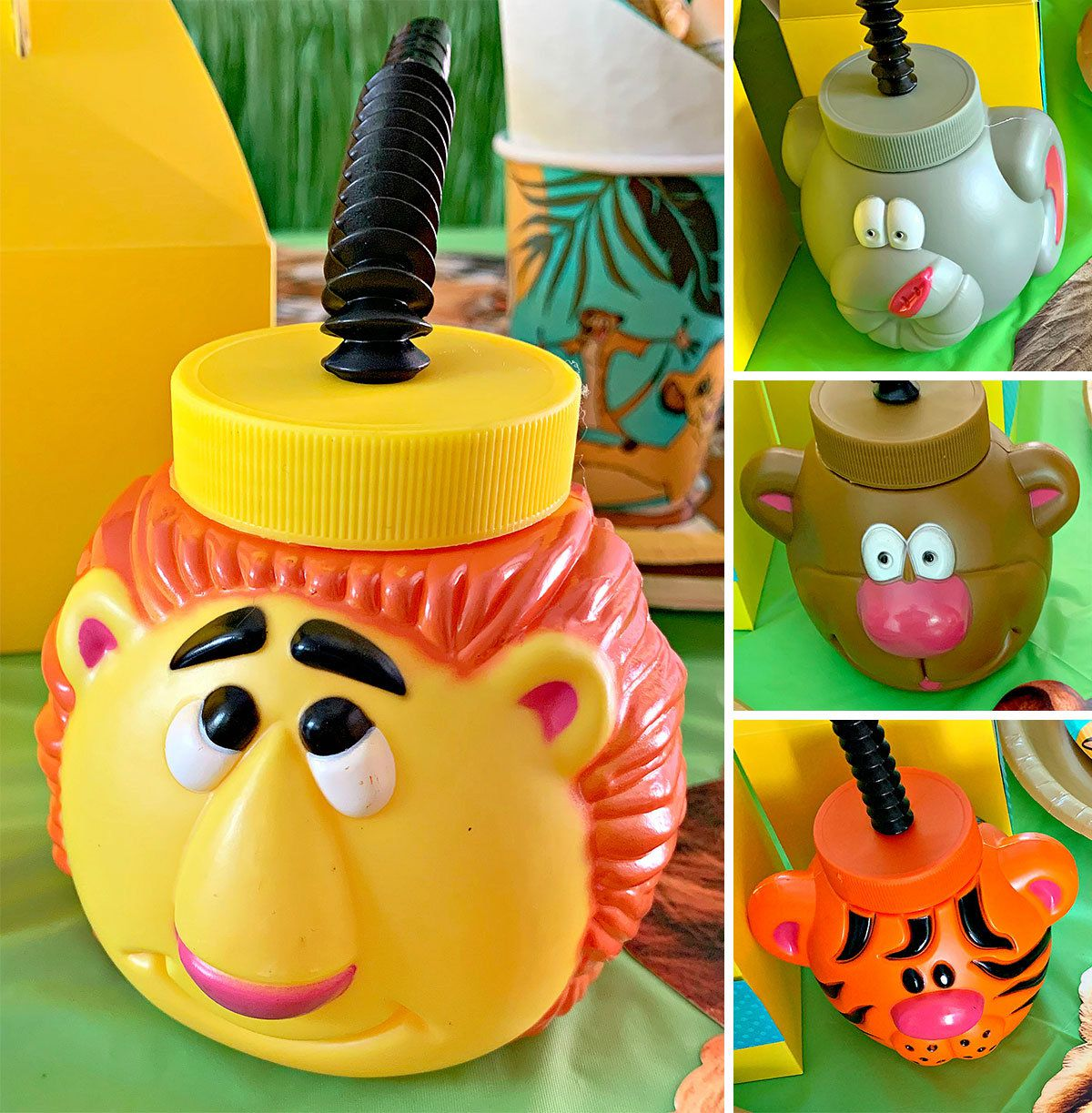 Lion King Party Ideas - Jungle Sippy Cups