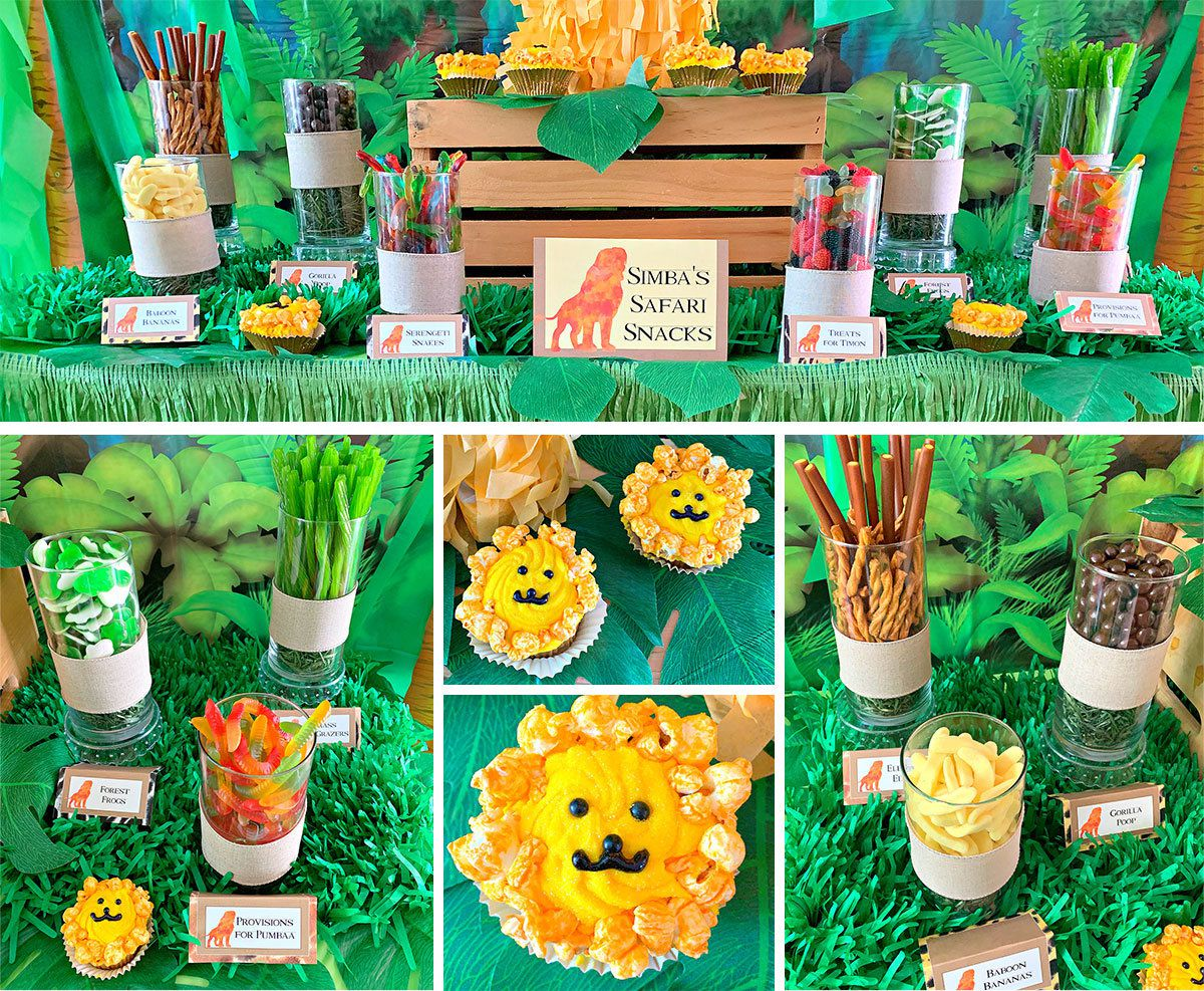 Lion King Party Ideas - Foods and Snacks
