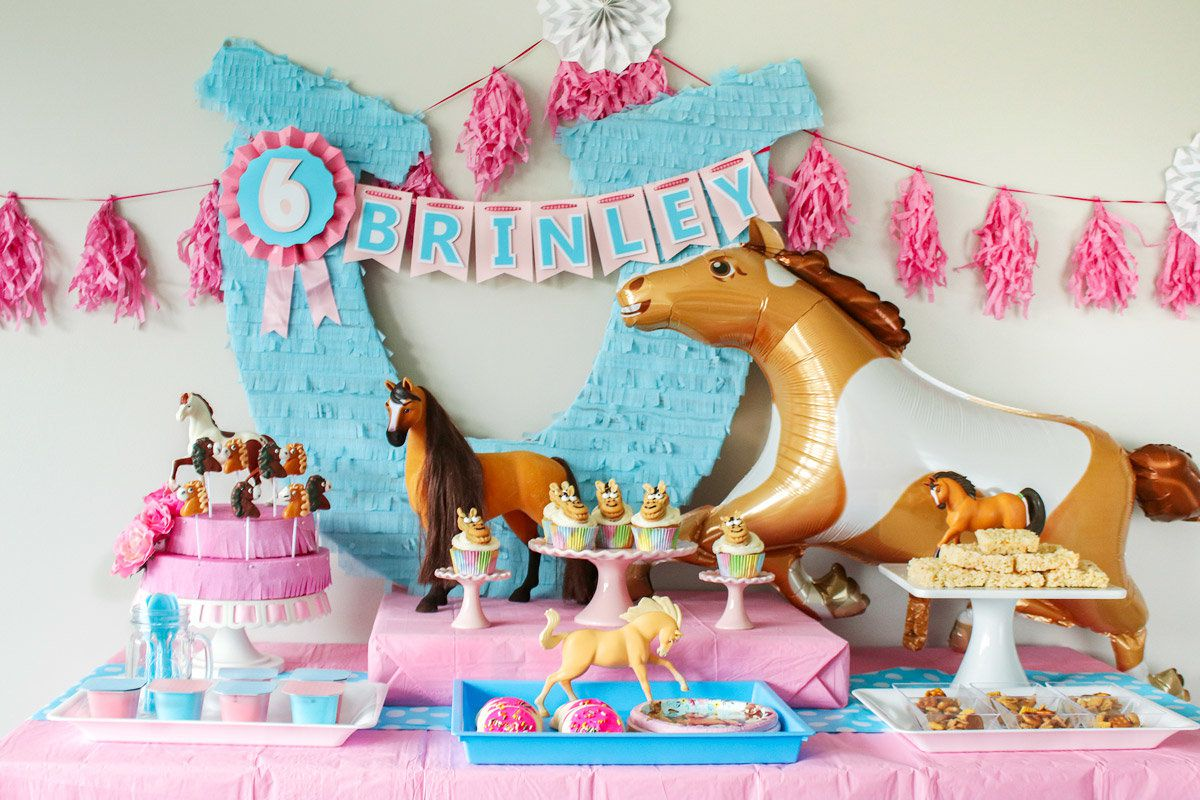 Spirit Riding Free Party Ideas - Buffet Table