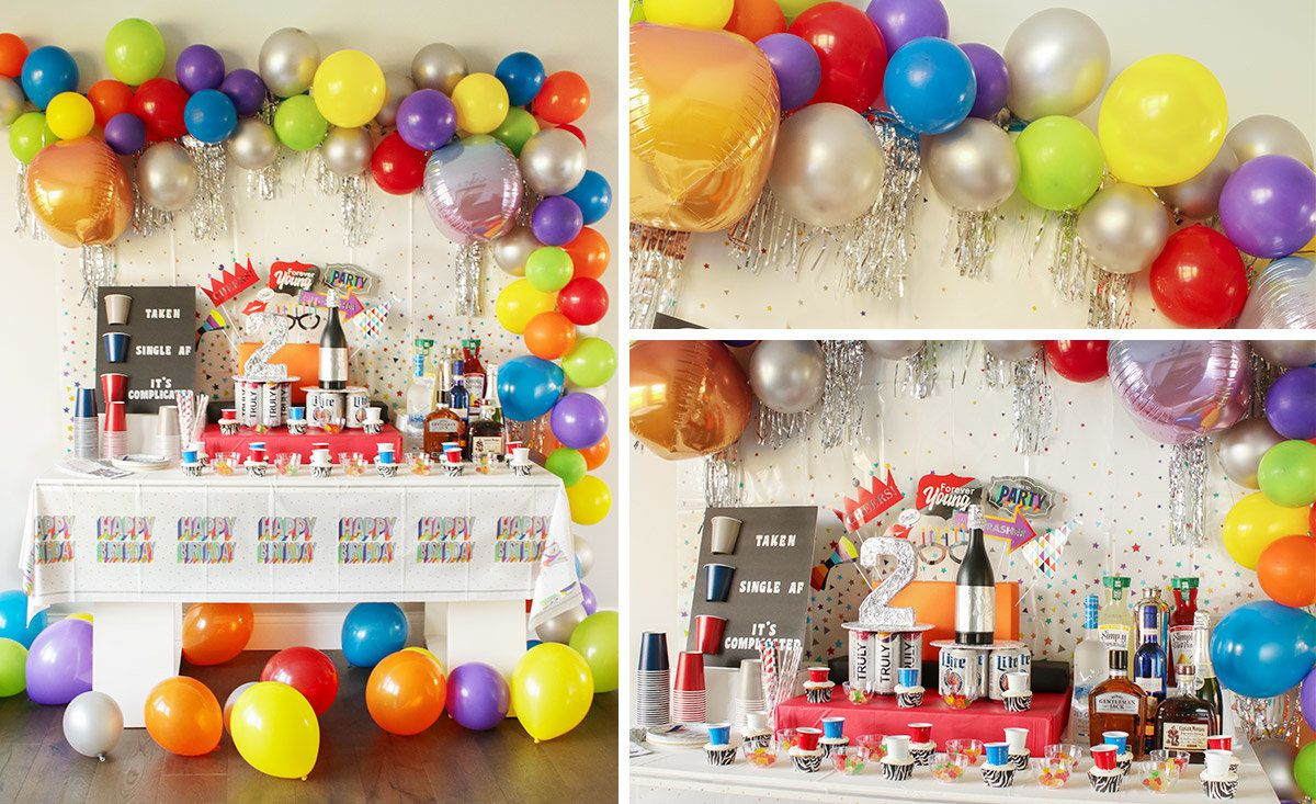 21st Birthday Party Ideas Adult Party Ideas At Birthday In A Box,Colored Stainless Steel Tumblers