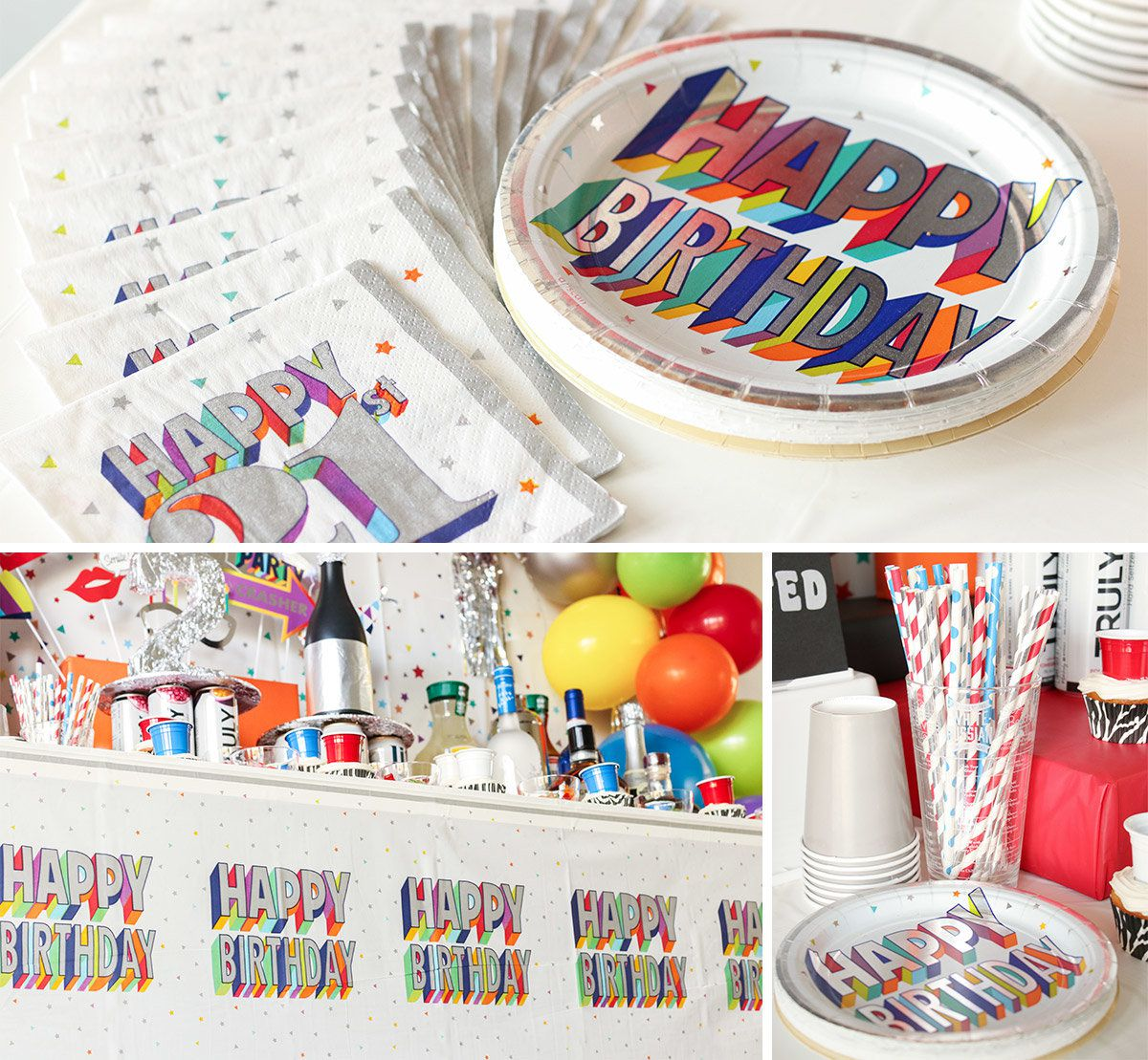 21st Birthday Party Tableware