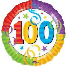 "100Th Birthday Perfection 18"" Balloon (Each)"