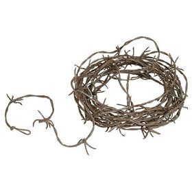 12' Rusty Barbed Wire Garland