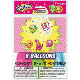 "12"" Shopkins 2 Sided Balloons (8 Count)"