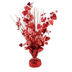 "15"" Red Holographic Hearts Balloon Weight Centerpiece"