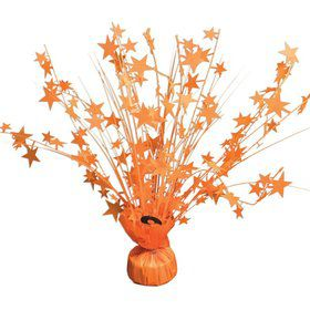 "15"" Neon Orange Starburst Balloon Weight Centerpiece"