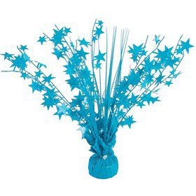 "15"" Neon Turquoise Starburst Balloon Weight Centerpiece"