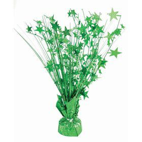 "15"" Green Holographic Starburst Balloon Weight Centerpiece"