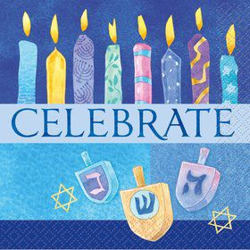 16 Hanukkah Celebrate Beverage Napkins