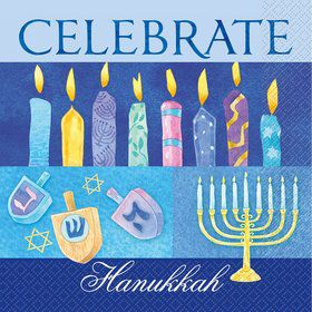 16 Hanukkah Celebrate Lunch Napkins