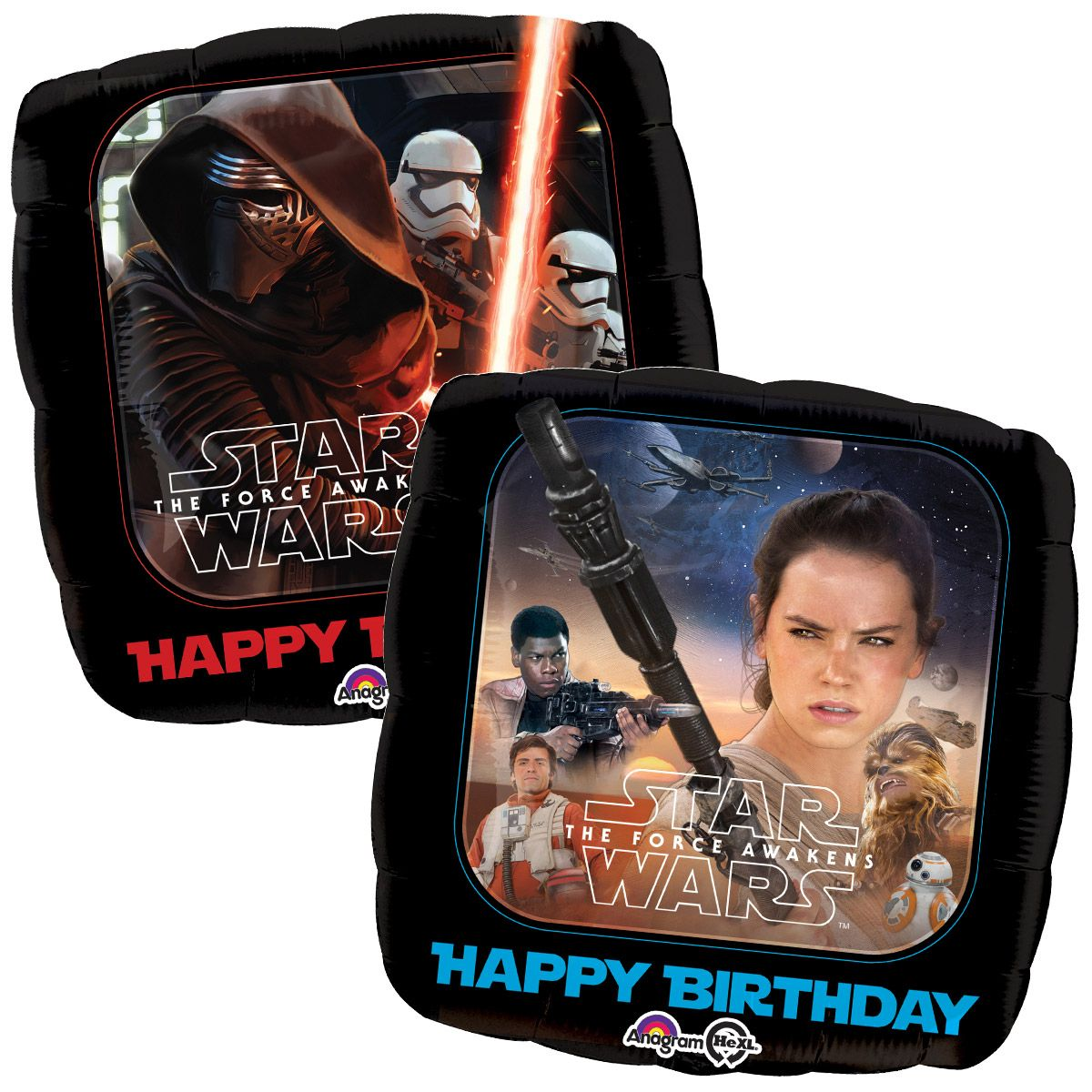"18"" Star Wars Force Awakens Birthday Balloon - Party Supplies"