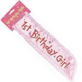 "1St Birthday 14.5"" Sash (Each)"