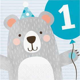 1st Birthday Bear Luncheon Napkin (16)