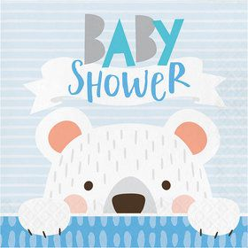 Baby Shower Bear Luncheon Napkin (16)