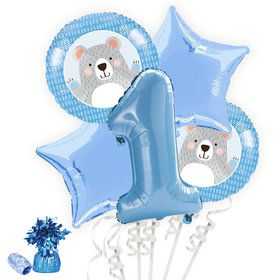 1st Birthday Bear Balloon Bouquet Kit