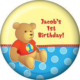 1st Birthday Bear Boy Personalized Magnet (each)